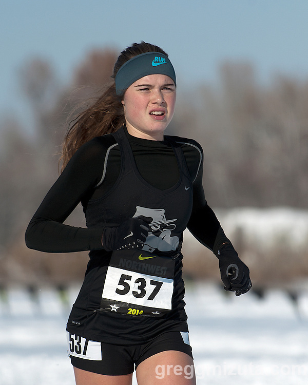 Ella Donaghu, NXN Northwest girls championship race,  November 15, 2014 at Eagle Island State Park, Eagle, Idaho.