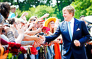 26-5-2014 - LEER  - Queen Máxima will visit the state's campaign Frische ist Leben. The Queen will explain the campaign by Mr. Jochem Wolthuis initiator of the campaign. She then talks with representatives of the Dutch and German industry. King Willem Alexander and Queen Maxima bring a two-day working visit to Lower Saxony and North Rhine-Westphalia on Monday 26 and Tuesday, May 27, 2014.  COPYRIGHT ROBIN UTRECHT