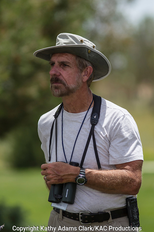 Kenn Kaufman, author of books, field guides, and magazine articles, in Marathon, Texa, during the Birds and Butterflies of the Big Bend Festival in July 2012.