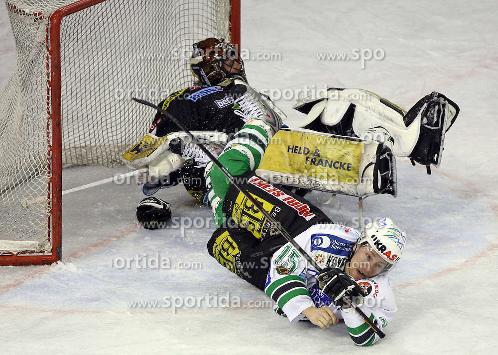 Egon Muric of ZM Olimpija at ice hockey matchZM Olimpija vs Liwest Linz in second round of semi-final of Ebel League (Erste Bank Eishockey Liga),  on February 28, 2008 in Arena Tivoli, Ljubljana, Slovenia. Win of ZM Olimpija 3:2. (Photo by Vid Ponikvar / Sportal Images)