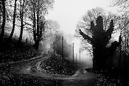 Family landscapes, France. tourning pathway on Alice's village, Le Four.