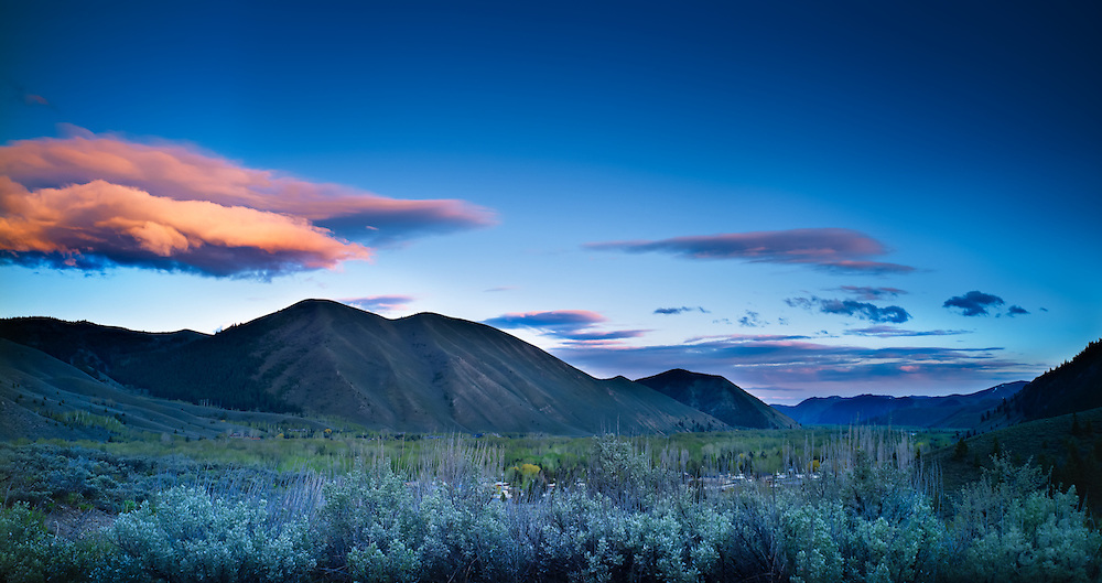 Evening Clouds, Wood River Valley, Idaho