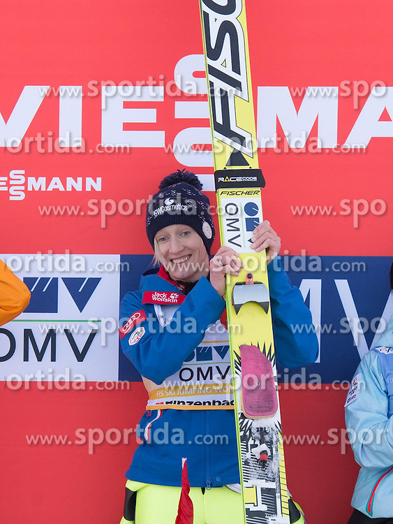 31.01.2015, Energie AG Skisprung Arena, Hinzenbach, AUT, FIS Weltcup Ski Sprung, Hinzenbach, Damen, Wettkampf im Bild Siegerin Daniela Iraschko-Stolz (AUT) // during FIS Ski Jumping World Cup Ladies at the Energie AG Skisprung Arena, Hinzenbach, Austria on 2015/01/31. EXPA Pictures © 2015, PhotoCredit: EXPA/ Reinhard Eisenbauer