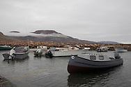 Coastal Inuit community of Arctic Bay. Lancaster Sound. HIgh Arctic. Baffin Island. Canada<br />