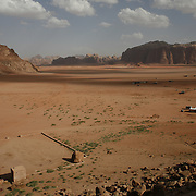 A view from above the spot calls today Lawrence's Spring at Wadi Rum Jordan, may 14, 2013. Photo by Oren Nahshon