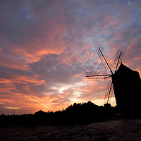 Old Windmill at sunset, Sant Francesc, Formentera
