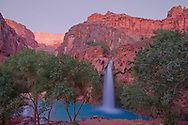 Arizona, Supai, Havasupai Nation. Havasu Falls, Reservation, Grand Canyon region, Havasu Canyon, Havasu River tributary of Colorado River