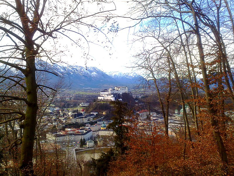 Salzburg Austria view from Capuchin mountain