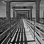 Wooden gangway, Fort Worth Stock Yards, Fort Worth, Texas