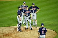 27 June 2011: #52 Vinnie Pestano is waiting to be relieved from the mound in the 8th inning during a Major League Baseball game MLB Cleveland Indians defeated the Arizona Diamondbacks 5-4 inside Chase Field in Phoenix, AZ.  **Editorial Use Only**