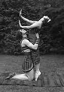 Anna Pavlova as Cleopatra and Laurent Novikoff as Amoun in 'Cléopâtre' at Ivy House, Hampstead Heath, London, England, 1923