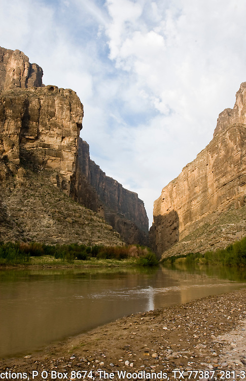 Santa Elena Canyon, Big Bend National Park, Texas.  1,500 foot canyon walls cut by the Rio Grande.