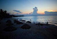 Sunrise on the beach beach in Playa del Carmen, Mexico. (Photo By Robert Caplin