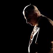 "Pope Benedict XVI celebrates the Via Crucis, ""Way of the Cross"" at Rome's Colosseum."
