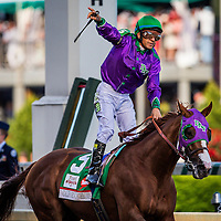 May 03, 2014: California Chrome with Victor Espinoza aboard wins the 140th running of the Kentucky Derby at Churchill Downs Louisville Ky. Zoe Metz/ESW/CSM
