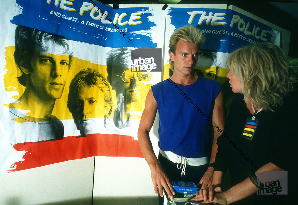 The Police - Mr and Mrs Sting on tour.