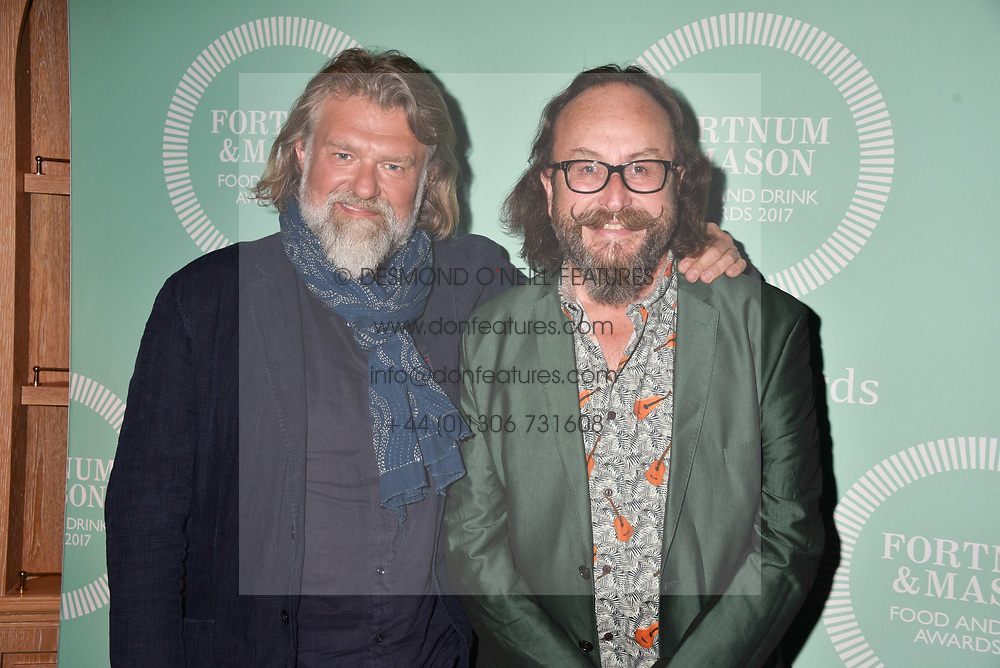 Dave Myers and Simon King at the 2017 Fortnum &amp; Mason Food &amp; Drink Awards held at Fortnum &amp; Mason, Piccadilly London England. 11 May 2017.<br /> Photo by Dominic O'Neill/SilverHub 0203 174 1069 sales@silverhubmedia.com