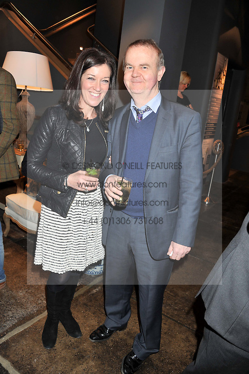 IAN & VICTORIA HISLOP at a party to celebrate the publication of Folly de Grandeur: Romance and Revival in an English Country House by Nicky Haslam held at Oka, 155-167 Fulham Road, London on 21st March 2013.
