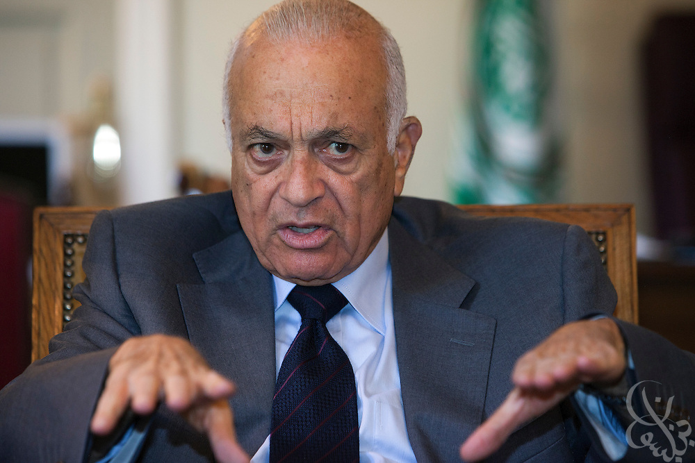Arab League Secretary-general Nabil Elaraby speaks during an interview August 27, 2011 in Cairo, Egypt.  (Photo by Scott Nelson for Der Spiegel)