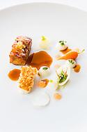 Molejas com Lagostim- Chef Rui Silvestre , Restaurante Bon-Bon , 1 Estrela Michelin. Carvoeiro 7 de Julho de 2016. Fotografia de Jorge Simão