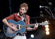 Brian Briggs of Stornoway performs live on the main stage during day two of the Isle of Wight Festival 2011 at Seaclose Park on June 11, 2011 in Newport, Isle of Wight.  (Photo by Simone Joyner)