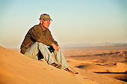 David Zimmerman, in the Imperial Sand Dunes
