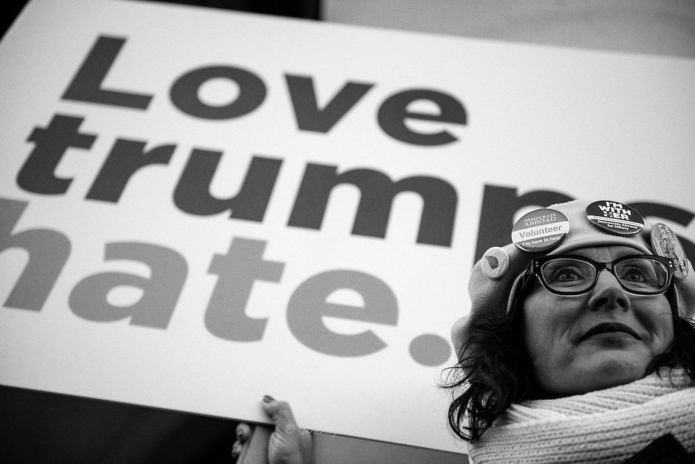 The Brussels Women's March/ Light for rights march on the eve of the inauguration of president elect Donald Trump - Brussels<br /> &copy; Wendy Marijnissen 2017