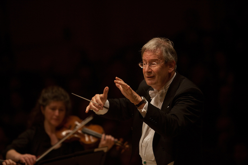 Sir John Eliot Gardiner conducts Orchestre Revolutionnaire et Romantique performing Ludwig Van Beethoven Symphony No. 7 in A Major at the Isaac Stern Auditorium at Carnegie Hall in Manhattan, NY on November 16, 2011..