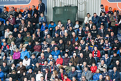 South Stand fans.<br /> Falkirk 3 v 1 Alloa Athletic, Scottish Championship game played today at The Falkirk Stadium.<br /> &copy; Michael Schofield.
