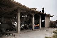 Iraq, Kurdistan: Peshmerga military base on the frontline against IS in Makhmur district 50Km south of Mosul. Alessio Romenzi