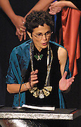 Author Julia Alvarez speaks after received career award during Hispanic Heritage Youth Awards program at the Kennedy Center in Washington, 21Sep2002