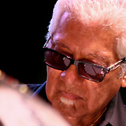 Legendary Percussionist Pete Escovedo performs with the Latin Jazz All-Stars in front of a large crowd at the 26th annual duPont Clifford Brown Jazz Festival Thursday, June 19, 2014, at Rodney Square Park in Wilmington, DEL.   <br /> <br /> &ldquo;The Clifford Brown Jazz Festival is a staple of Wilmington&rsquo;s performing arts culture,&rdquo; said Mayor Dennis P. Williams. &ldquo;The City is excited to celebrate the 26th anniversary and I hope the community gets involved and enjoys all of the many activities the festival has to offer.&rdquo;<br /> <br /> The Clifford Brown Jazz festival is the largest FREE out door music event on the east coast of the United States.