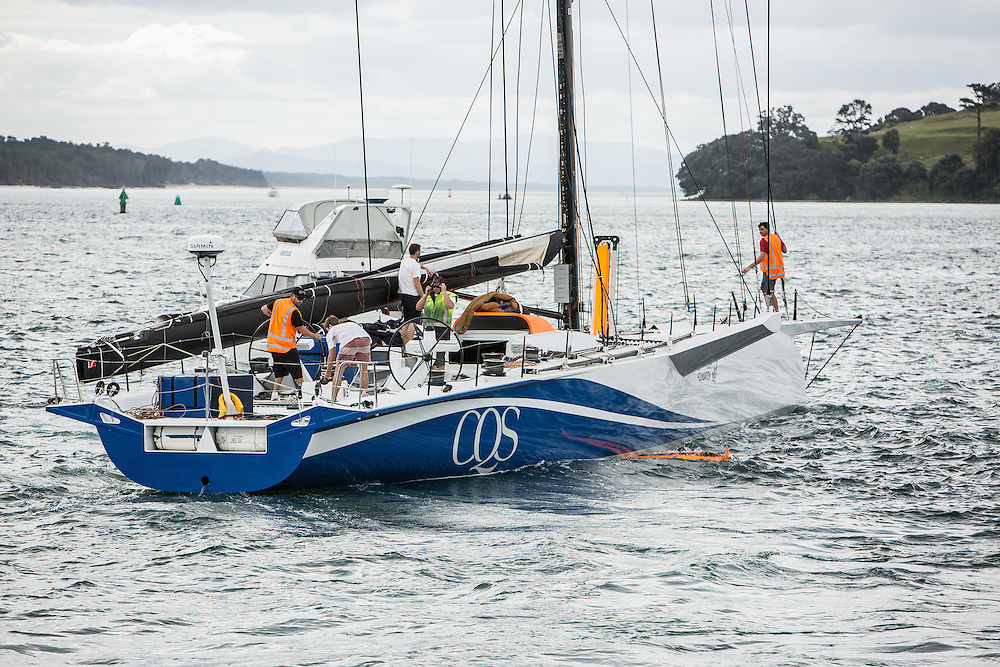 100-ft race yacht at Southern Ocean Marine. Tauranga, New Zealand. 10 November 2016.  Photo:Gareth Cooke/Subzero Images