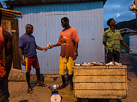 Anse La Raye, Saint Lucia: Fish for sale on the streets of the village.