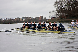 Oxford University Boat Club racing Leander Club as part of their boat race preparations - 20th March 2010, River Thames. Oxford won.