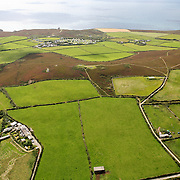 Aerial shot of St Agnes Beacon, Cornwall, UK