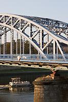 pilsudski bridge from krakow's kazimierz district to podgorze in sunshine in september 2005