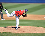 Ole Miss' Mike Mayers (28) vs. North Carolina-Wilmington at Oxford-University Stadium in Oxford, Miss. on Sunday, February 26, 2012. Ole Miss won 10-5..