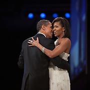 President Barack Obama and wife Michelle attend Inaugural Balls Tuesday, January 20, 2009...Photo by Khue Bui