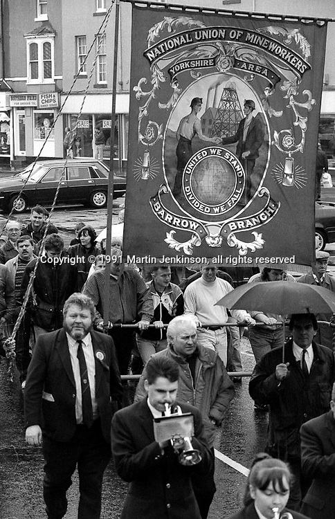 Barrow Branch banner. 1991 Yorkshire Miners Gala. Doncaster.