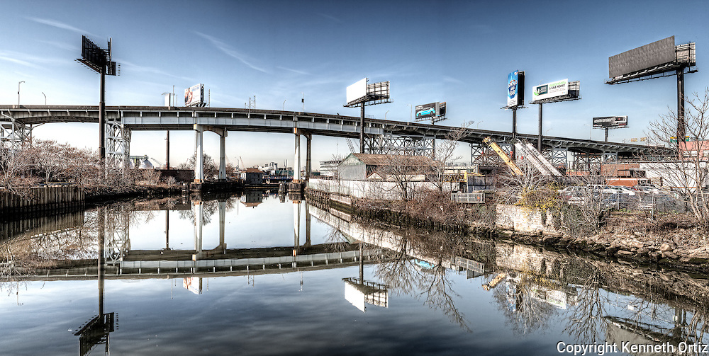 View of the Long Island Expressway Underpass in Queens New York City.