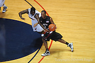 Ole Miss' Eniel Polynice vs South Carolina's Devan Downey on Wednesday, January 20, 2010 in Oxford, Miss.