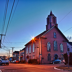 """The Pearl,"" started out as the Freewill Baptist Church when it was built in 1868. It was the People's Baptist Church when Martin Luther King Jr. preached here in 1952. Portsmouth, New Hampshire."