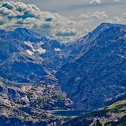 Lake nestled in the mountains, Rocky Mountain National Park, Colorado