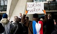Een betoging van de anti-islamitische beweging Pegida in Rotterdam is zonder grote incidenten verlop