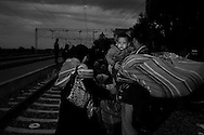 Croatia, Tovarnik: In Tovarnik rail station migrants wait the train that will take them either to the border with Hungary or Slovenia. Alessio Romenzi