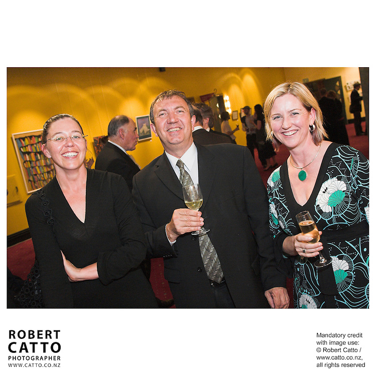 Megan Buchanan;David Inns;Delia Shanly at the Arts Foundation of New Zealand New Generation Awards at the St James Theatre, Wellington, New Zealand.<br />