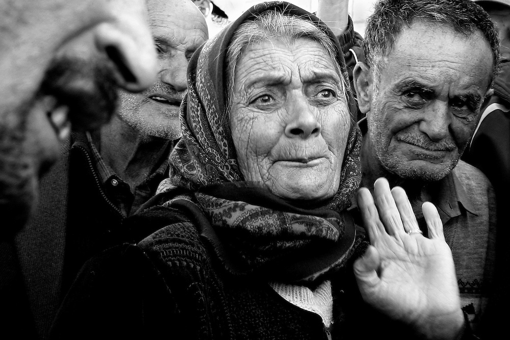 KHIAM, Lebanon: Villagers speak out at a protest against UNIFIL's presence in the area.