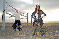 7 November 2012:  George and Tiffany Parros photographed at El Segundo Beach for The Hockey News.