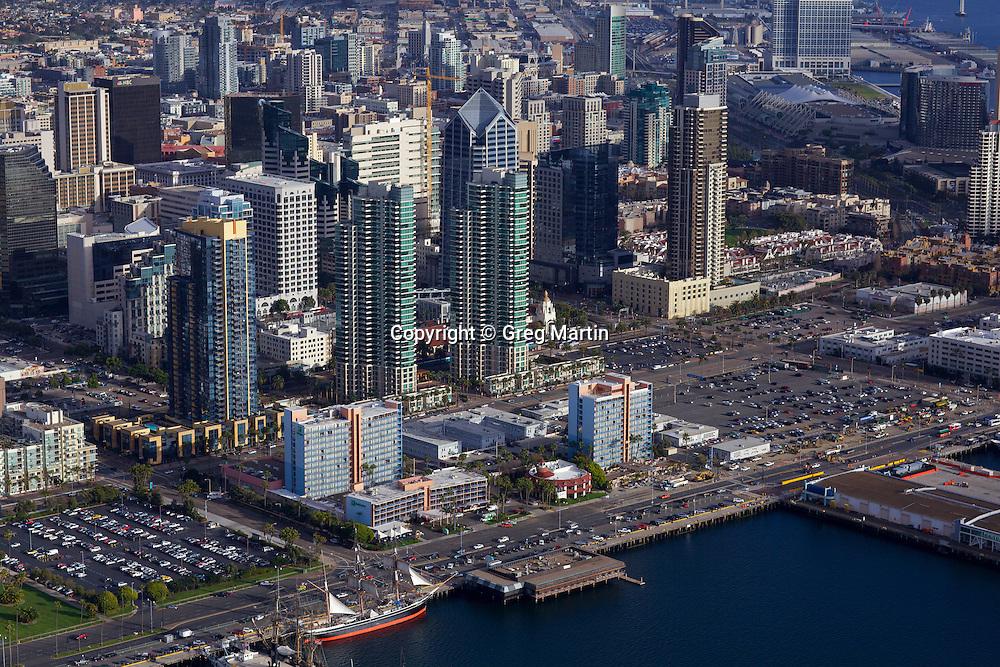 Aerial Photograph Of Downtown San Diego California Greg Martin Photo